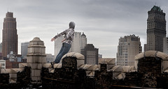 Just Leap (Rob Woodcox) Tags: city roof urban brick rooftop skyscraper landscape freedom jump detroit scenic leap epic abandonment urbanexploring urbex robwoodcox robwoodcoxphotography