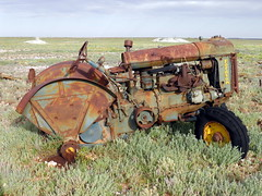 Forgotten Now ! But i have done my bit in my day ! (Ash & Ali) Tags: old travel holiday rust desert neglected australia weathered outback wreck barren derelict arid emptiness