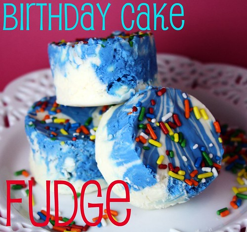Confessions Of A Cookbook Queen: Birthday Cake Fudge