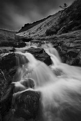 Greenfield Waterfall_bw (andy_AHG) Tags: landscapephotography scenic beautifulscenery outdoors britishcountryside northernbritain outdooractivities winter water streams waterfalls rocks saddleworthmoor greenfieldbrook greenfieldreservoir ravenstonesbrow trinnaclestone pennines yorkshire