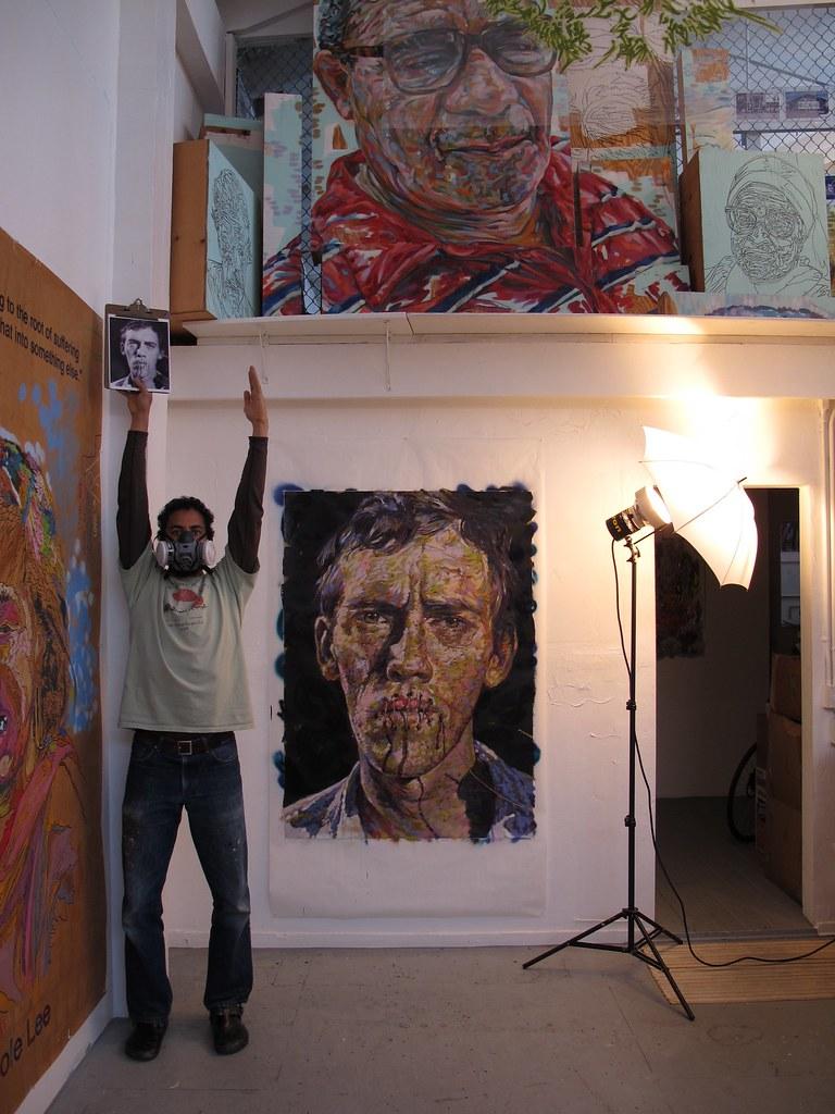David Wojnarowicz w/Brett Cook in Oakland Studio/Practice Center