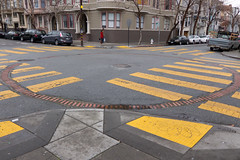 Circle (blech) Tags: sanfrancisco brick water yellow hydrant circle fire crossing mission watertank cistern 22nd brickcircle