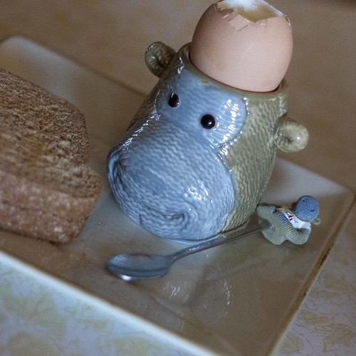 sock monkey egg cup