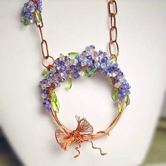 Wistera Memories Necklace (AudreyGardenLady) Tags: etsy beaded gemstone wirewrapped handcraftedjewelry audreygardenlady