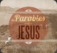 parables graphic (Dale Pagenkopf) Tags: church typography design graphicdesign shepherd jesus retro sermongraphic parables