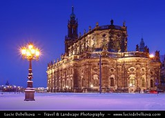 Germany - Dresden - Dusk at Hofkirche - Church of the Court ( Lucie Debelkova / www.luciedebelkova.com) Tags: world pictures city longexposure trip travel light vacation holiday tourism beautiful night wonderful germany photography dawn lights evening dresden town photo nice fantastic twilight graphics europe foto tour place shot graphic image dusk awesome country illumination eu visit images location tourist illuminated nighttime photograph journey german stunning destination historical traveling lovely visiting exploration incredible touring europeanunion breathtaking illuminate centraleurope deutch icture 100commentgroup luciedebelkova wwwluciedebelkovacom