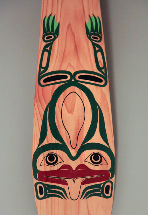 frog design by Matthew Helgesen on paddle, Ketchikan, Alaska