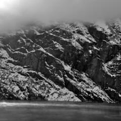 Vals // Grisons // 1 (goldomontreux) Tags: white black film montagne blackwhite nikon suisse lac nb only vals d90 nikond90bw
