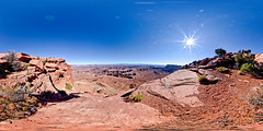 Grand View Point (SdosRemedios) Tags: panorama landscape nationalpark 360 canyonlandsnationalpark geology redrock hdr highdynamicrange vr equirectangular sdosremedios grandviewpoint size1x2 stevendosremedios