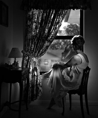 White Canvas (Anne Worner) Tags: china portrait blackandwhite woman window lamp mono glamour chair view desk curtain victorian contrejour nightgown wefi blackwhiteaward artlibres absoluteblackandwhite absolutegoldenmasterpiece truthandillusion anneworner