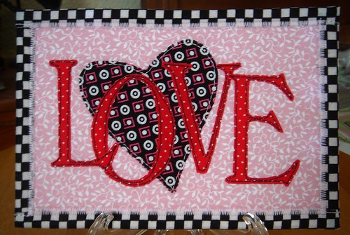 Love Fabric Postcard