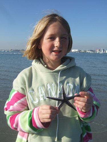 Jacky finds a nice beaded starfish