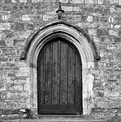 Church Doorway... (Paul Green Photography) Tags: door uk winter england blackandwhite bw southwest reflection building church architecture digital canon buildings bristol eos countryside unitedkingdom country landmarks somerset structure photograph 7d usm dslr avon clevedon 24105 churchdoorway canon24105 canonusm canon7d canon24105lens