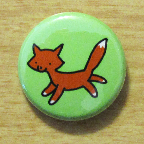 Woodland Fox - Button 01.13.11
