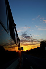 African Sunset (Meena Ishag) Tags: sunset sky bus refelection flipoutscreenpicture