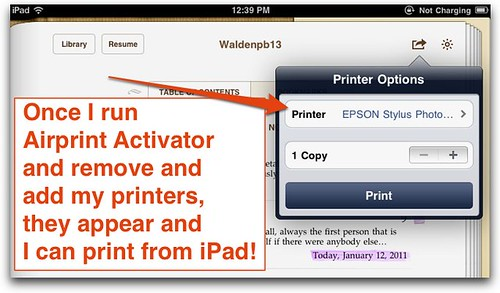 Printing from iPad