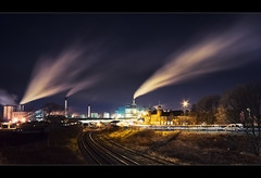 Steaming down the rails, Warrington. Explored Frontpage (Ianmoran1970) Tags: night exposure track factory rail steam explore jar frontpage unilever explored longish ianmoran ianmoran1970