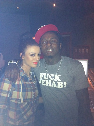 Cher Lloyd in the studio with lil wayne