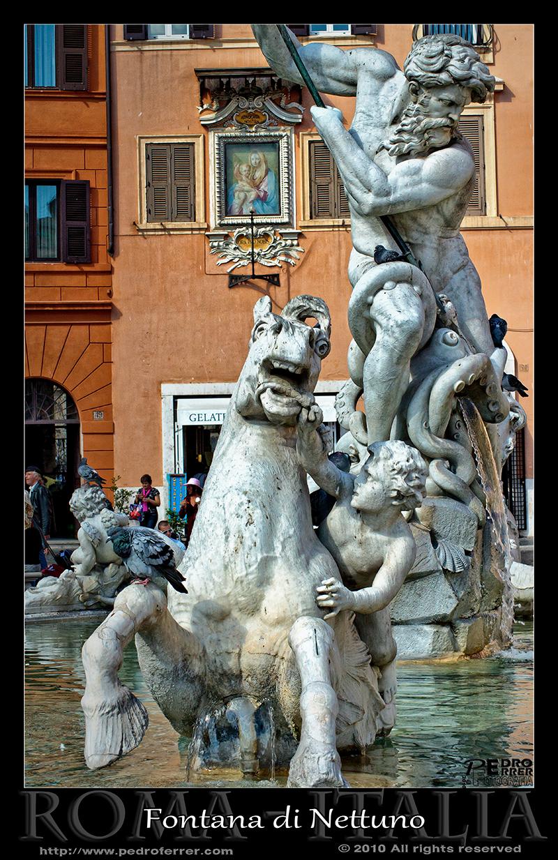 Roma - Piazza Navona - Fontana di Nettuno