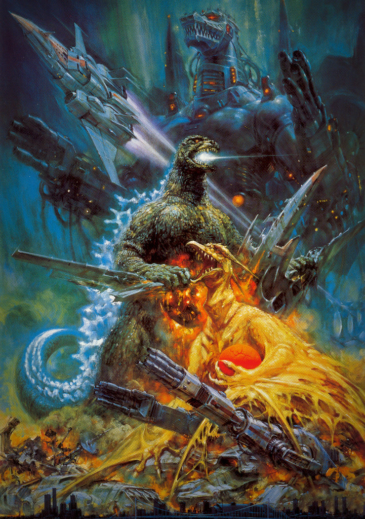 Godzilla vs. Mechagodzilla, Noriyoshi OhraiPainting (Toho, R-1993)