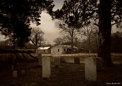 They never left Home (History Rambler) Tags: old trees house abandoned home cemetery graveyard architecture rural fence dark iron northcarolina historic forgotten lonely antebellum decayed tinroof greekrevival edgecombecounty oncewashome