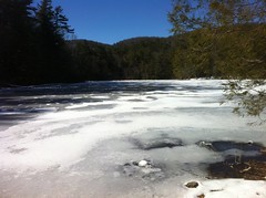 Frozen Rock Creek Lake
