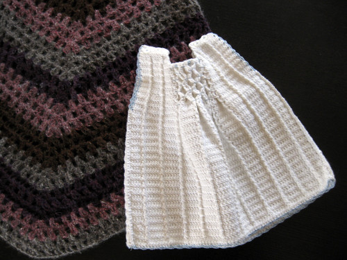 Crochet Past:  oh-so-stiff baby dress