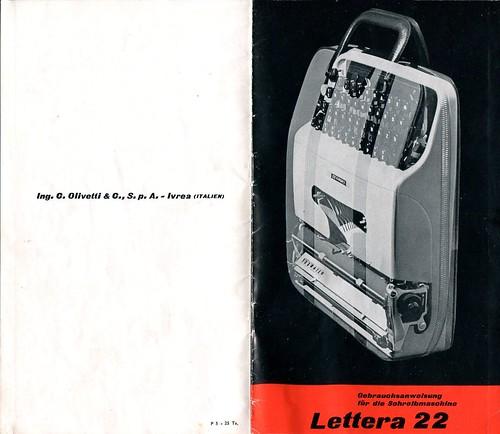 Olivetti Lettera 22 Gebrauchsanweisung 01