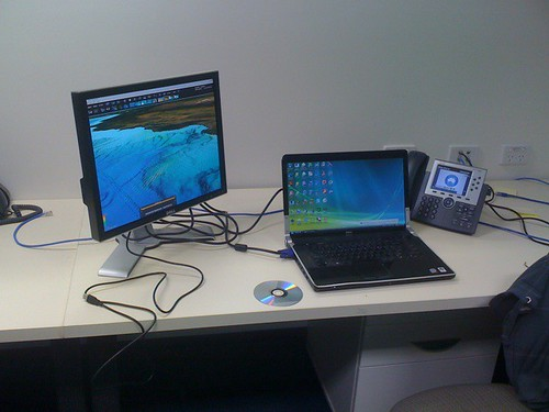 First day at the new office in Csiro , ip phone and cove in the alcove