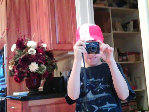 Birthday boy with his new camera