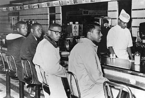 """美国黑人的""""入座""""运动"""