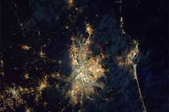 Which South American city? (astro_paolo) Tags: brazil nasa iss esa internationalspacestation earthfromspace europeanspaceagency sãopaolo expedition26 magisstra