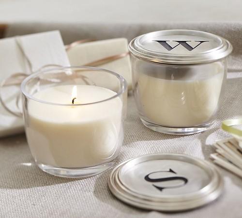 monogram candle
