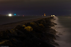 Night Lights at Poolbeg (John Coveney Photos) Tags: ireland lighthouse seascape black night nightlights poolbeg baily codublin northbull johncoveney