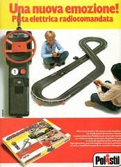 Pub POLISTIL (1982) (xavnco2) Tags: auto italy car ads advertising toys pub wolf italia circuit pista publicit jouet pubblicit giocattoli lectrique elettrica polistil brabhamalfa