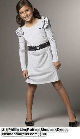 3.1 Phillip Lim - Ruffled-Shoulder Long-Sleeve Dress - Neiman Marcus