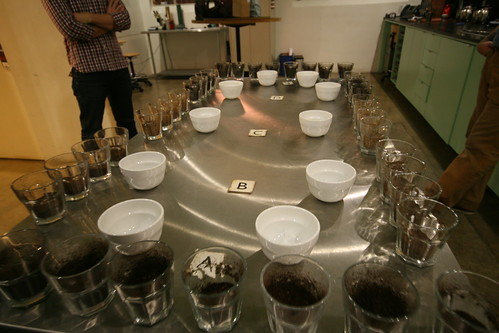 Intelligentsia: Coffee Cupping Setup