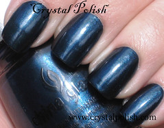 China Glaze Little Drummer Boy (CrystalPolish) Tags: blue shimmer littledrummerboy chinaglaze tistheseasontobenaughtyandnice