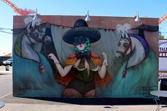 Coney Island - Coney Art Walls: Miss Van (wallyg) Tags: brooklyn coneyartwalls coneyisland kingscounty newyork newyorkcity ny nyc streetart missvan mural