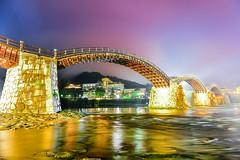 (DSC_1974) (nans0410(busy)) Tags: japan yamaguchi bridge light reflection thekintaibridge archbridge iwakuni nishikiriver kikkoupark kintaikyo iwakunikokusaikankohotel