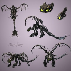 Nightfury (retinence) Tags: train dragon lego your how fusion bionicle toothless nightfury httyd