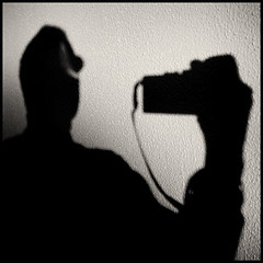Shooting to my shadow (joanpetrus) Tags: light blackandwhite bw white black 6x6 me self ego myself square lumix mono flickr autoportrait noiretblanc vanity monotone bn panasonic explore squareformat pancake 20mm schwarzweiss autorretrato 43 blancinegre virado 500x500 gf1 pancakelens bwd bwdreams leicalens monomania artlibre joanpetrus micro43 dmcgf1