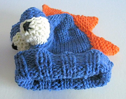 Blue dino newborn hat