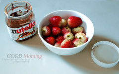 nutella (NOURA - alshaya ) Tags: morning 3 strawberry good nutella