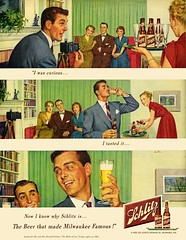Beer Curious (3) (paul.malon) Tags: beer vintage ads was schlitz curious 1950 1949 malebonding bicurious vintageillustration i americanbeer paulmalon beercurious