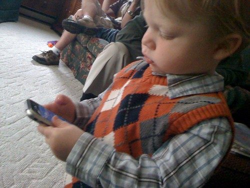 101125 Thanksgiving 03 - Coleman on iPhone