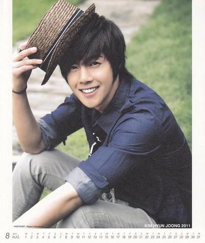Kim Hyun Joong 2011 Calendar Aug
