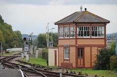 Signal Box, Minehead. (TheMardyBadger) Tags: old track box railway era signal minehead bygone signalboxbeige