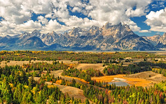 Jackson Hole, Wyoming - September, 2010 (Jeff Clow) Tags: autumn mountains raw valley vista wyoming tetons viewpoint grandtetonnationalpark 1exp jacksonholewyoming