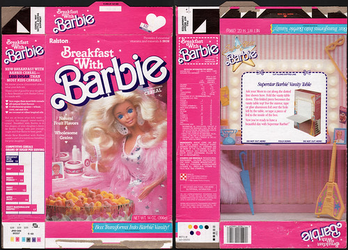 Ralston - Breakfast with Barbie - cereal box - 1989